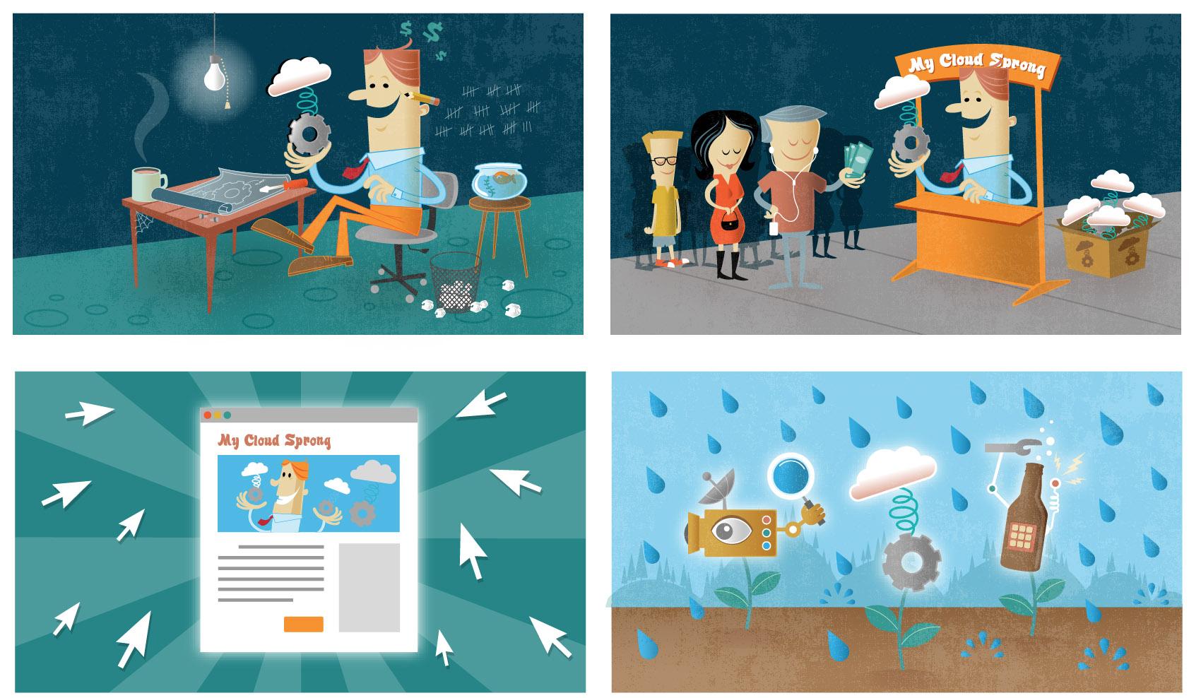 RainAdv Storyboards