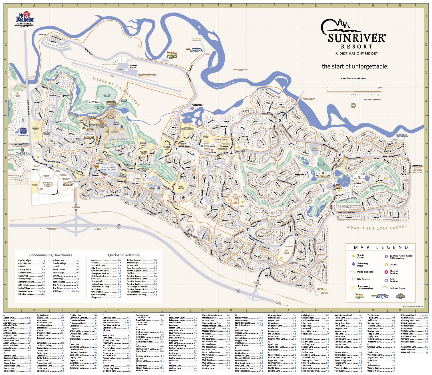 Maps   Moser Graphics Map Of Sunriver Oregon on